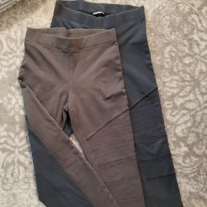 EXPRESS moto leggings. Set of 2.
